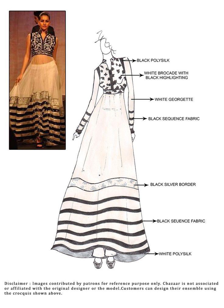 DIY #White Floor Length #Anarkali Suit