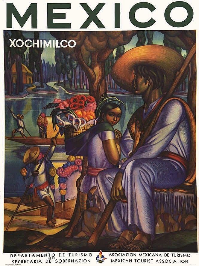 Xochimilco - Mexico - Departamento De Turismo De La Secreta. c. 1944.