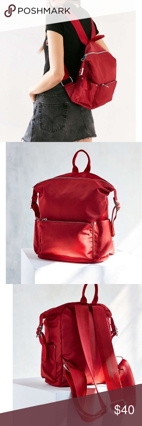 1 HR SALE Red Backpack used once, brand new condition. Very roomy and comfy ! Urban Outfitters Bags Backpacks