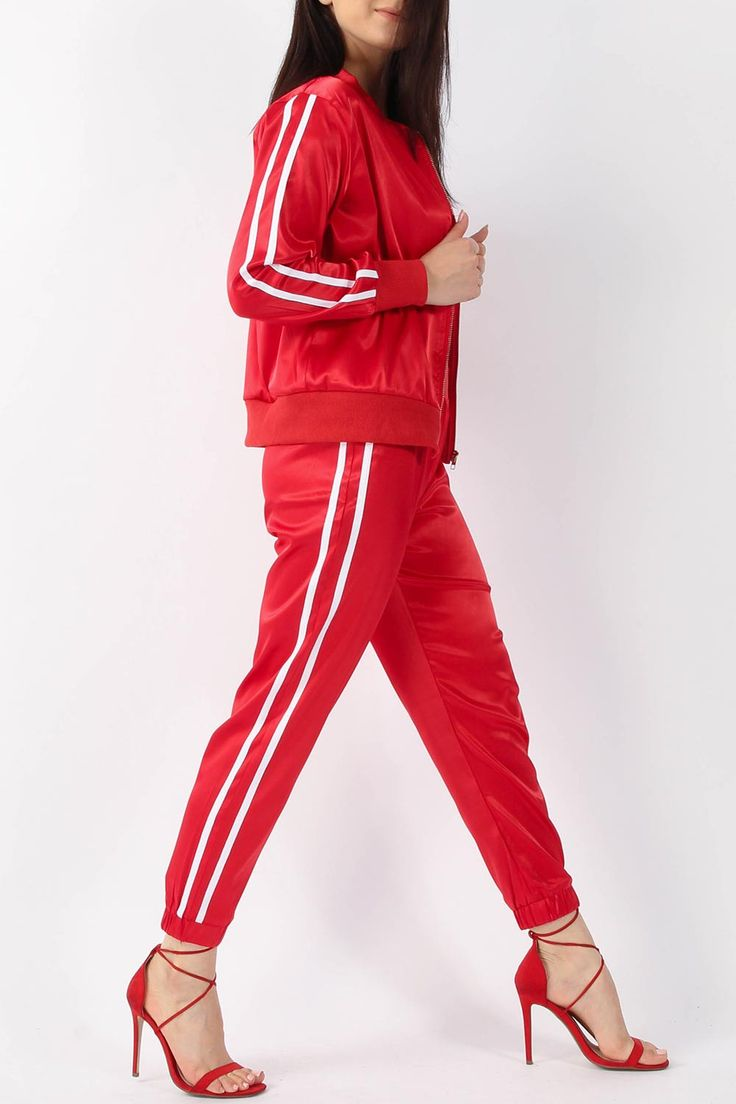 Wholesale Clothing UK, Online Fashion Wholesaler  Manchester & USA - Satin Jacket & Jogger Lounge Suit