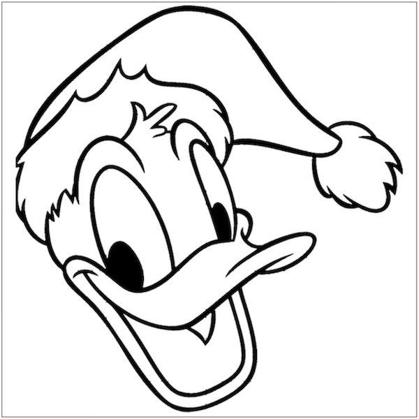 free christmas coloring pages donald duck
