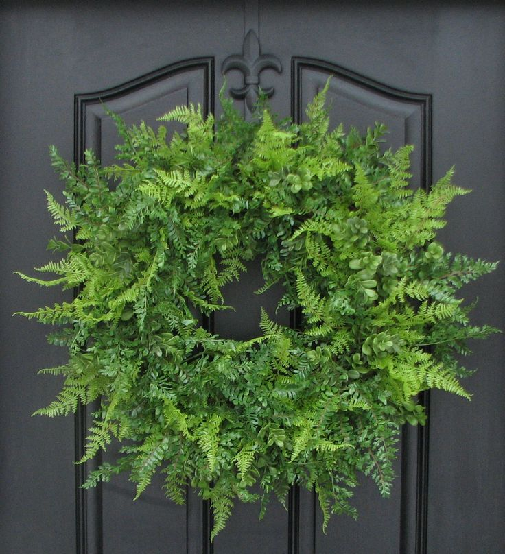 XL Spring Wreaths Summer Wreaths Boxwood XL Fern by twoinspireyou