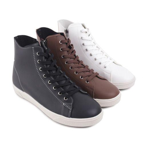 High-Top Zipped Sneakers