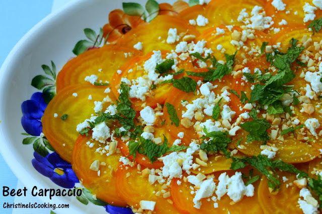 BEET Carpaccio salad | Healthy & Clean. | Pinterest