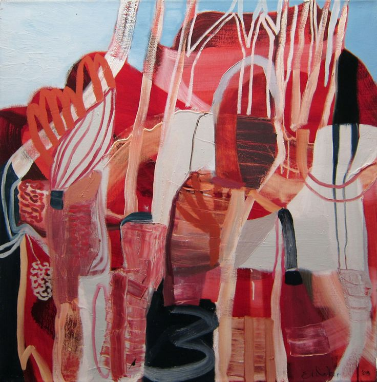 Emma Walker works in stock: Poetic abstract landscape painting