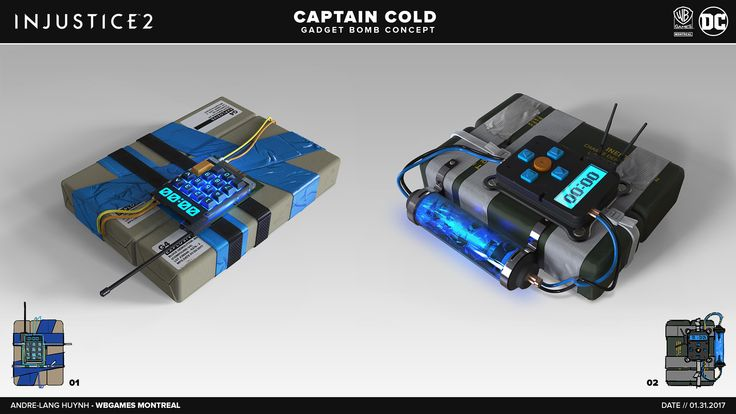 ArtStation - Injustice 2 // Captain Cold Bombs, Andre-Lang Huynh