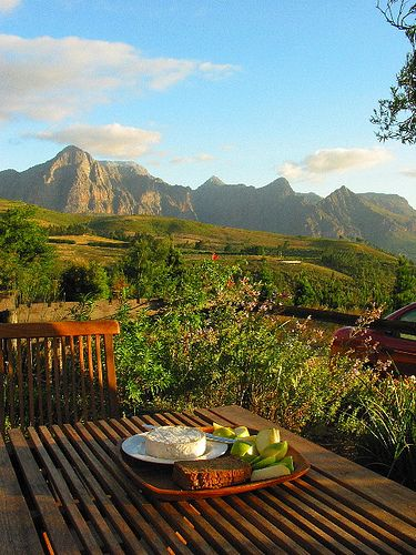 View from #Paarl house - #SouthAfrica