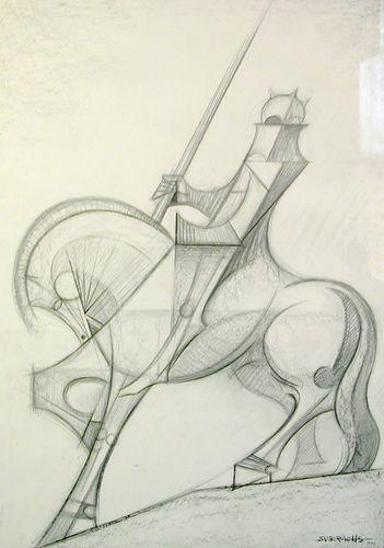 Sketch for a horse sculpture, Gaudi's Sagrada Familia, Barcelona by chailey, via Flickr