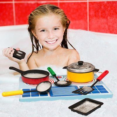 Игрушки для ванны. Игровой набор детской посуды для игр в ванной | Baby journal