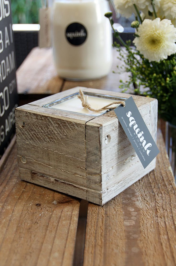 Shabby Timber Box Candle  See Available Scents-  Chic custom made Timber box is hand made and painted, limed and sealed with natural beeswax and olive oil.  Each Box is handmade and may vary in look, colour of image shown. All Designs © Copyright. Squink Studio 2014