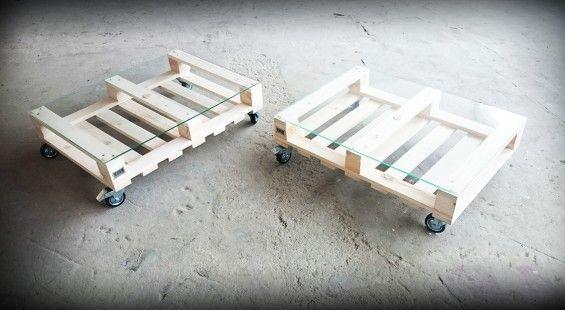DESIGN!STOLIK KAWOWY Z PALETY!!naturalne drewno. - Kolorum -