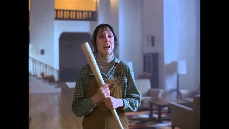 "A clip from the movie ""The Shining"" with Jack Nicholson and Shelley Duvall."