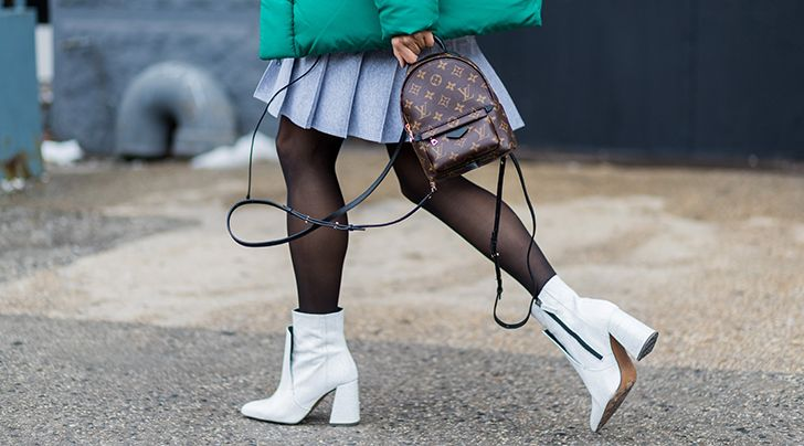 How to De-Static Your Skirt from Your Tights #purewow #fashion #advice #tip #winter #style #trick