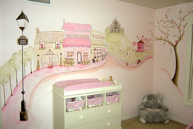 Paris Nursery Mural - Madison, WI | Flickr - Photo Sharing!