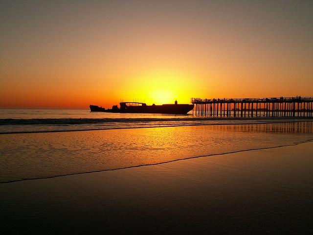 Sunset on the Cement Ship, Aptos CA