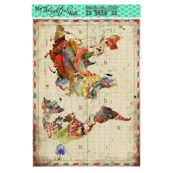 """24"""" x 36"""" Postage World Map Poster"""