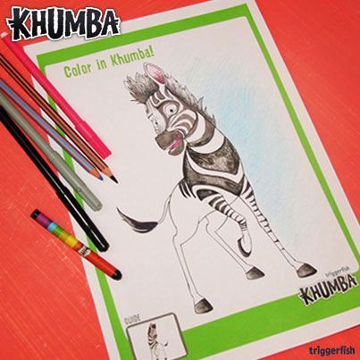 Psssst. Khumba kids, have you visited the Kidzone on our website yet?  There are going to be many new activities released on Facebook. You or your parents can download from the website.  Today it's Color Khumba Day, keep following us on Facebook for more fun activities.  Download the printable image here: www.khumbamovie.com