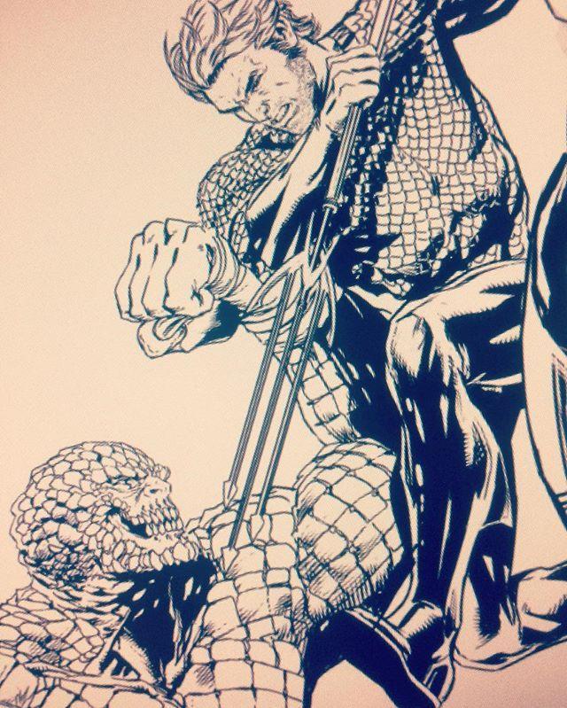 Aquaman vs Killer Croc by Jason Fabok #justiceleaguevssuicidesquad #aquaman #killercroc