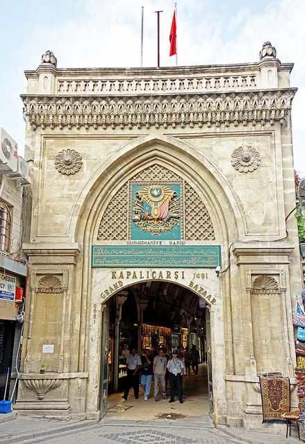 Grand Bazaar Entrance (Kapali Carsi) Istanbul, Turkey❤️ http://www.yourcruisesource.com/two_chefs_culinary_cruise_-_istanbul_to_athens_greek_isles_cruise.htm