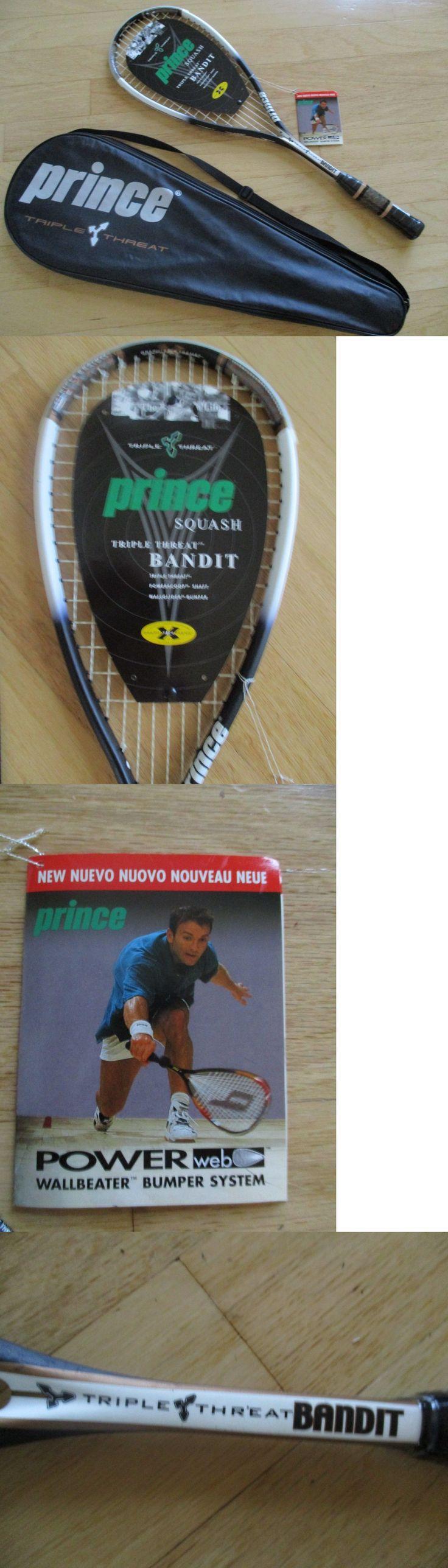 Squash 62166: *Rare* New Prince Triple Threat Bandit Squash Racquet Case Plastic On Handle BUY IT NOW ONLY: $69.0