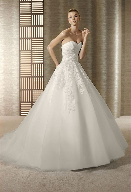White One Toscana Wedding gown by Pronovias  THE BRIDAL SHOP AT THE AVENUES  JACKSONVILLE, FLORIDA