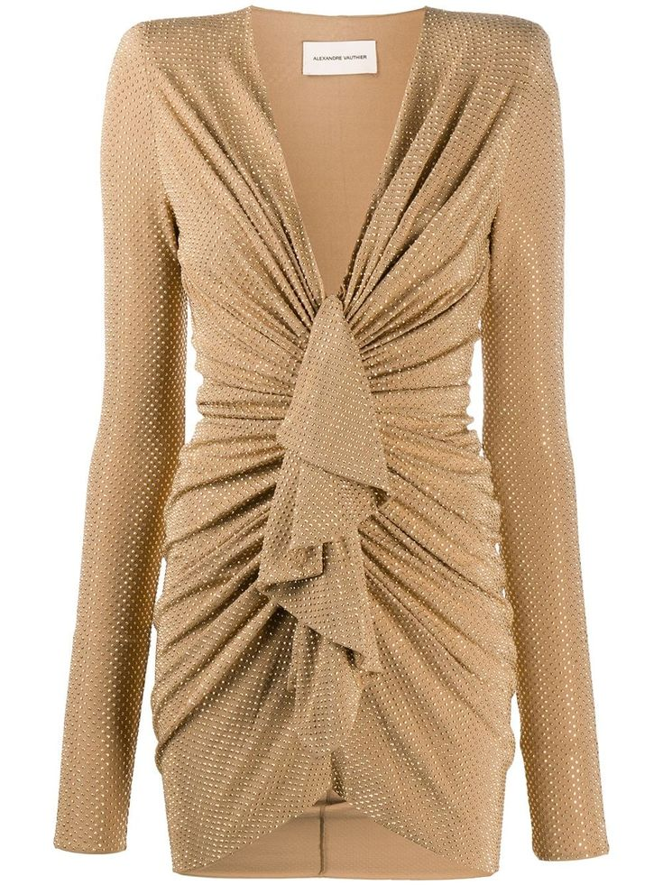 alexandre vauthier ruffle front mini dress farfetch minikleid