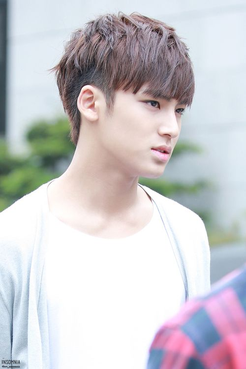 Mingyu~ His presence and voice reminds me so much of Kai from exo :') <--- that's probably why I'm attracted to this guy lol