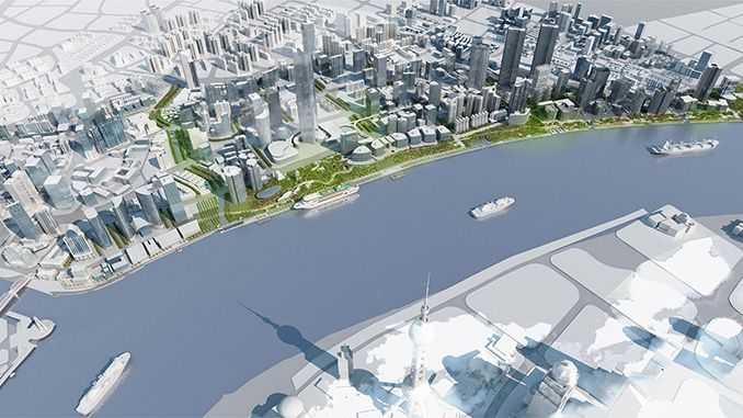 Hongkou North Bund Waterfront Masterplan and Public Realm | Shanghai, China | HASSELL #conceptual #landscape #urbanism