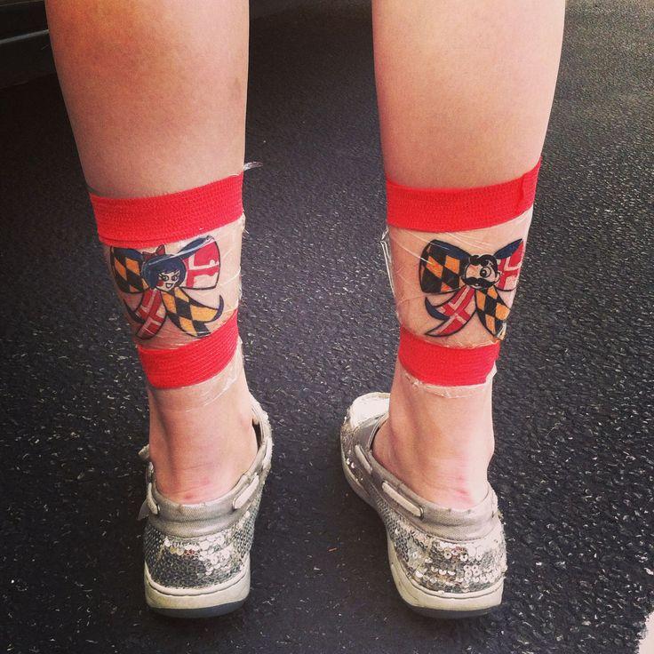 Maryland bow tattoo. Natty boh. Utz girl
