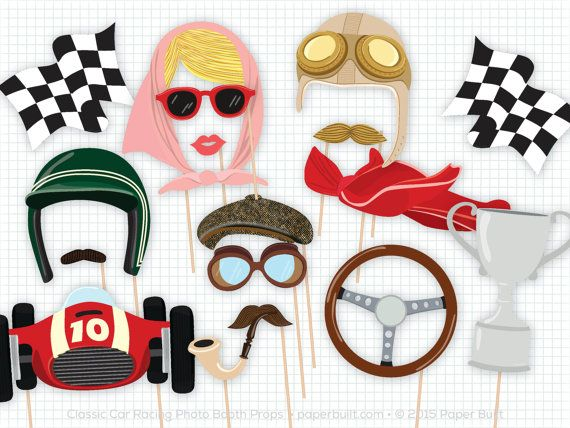 Race Car Photo Booth Props, Photobooth Props, Classic Car Party, Vintage Race Car, Automobile, Cars Party, Cars Birthday, Wedding Photobooth