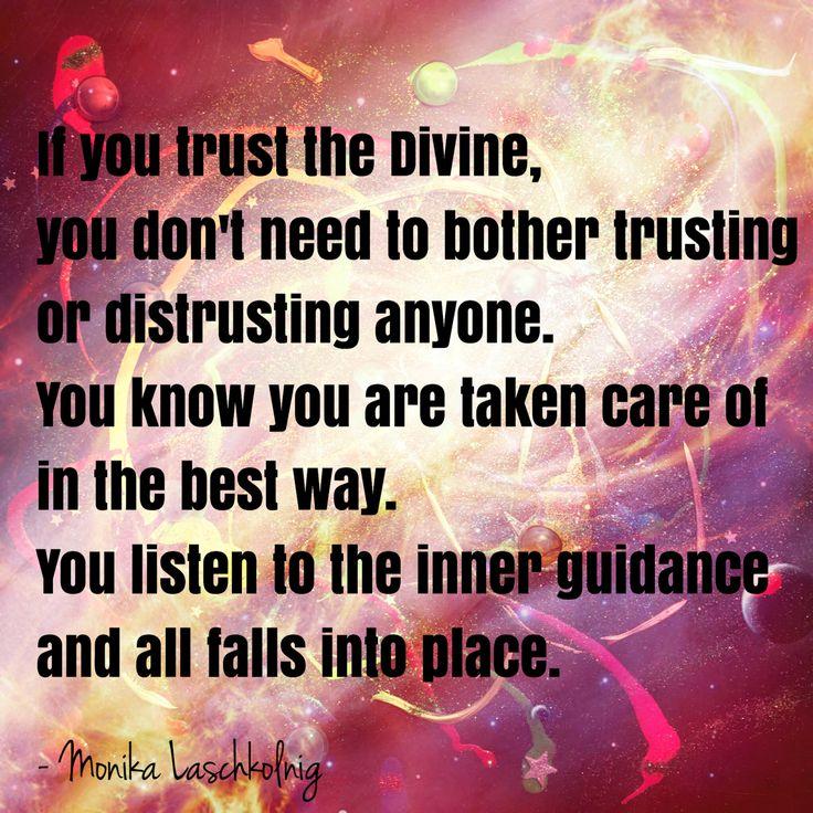 Wenn Sie dem Göttlichen vertrauen, müssen Sie sich nicht die Mühe machen, einem … – Grow your power