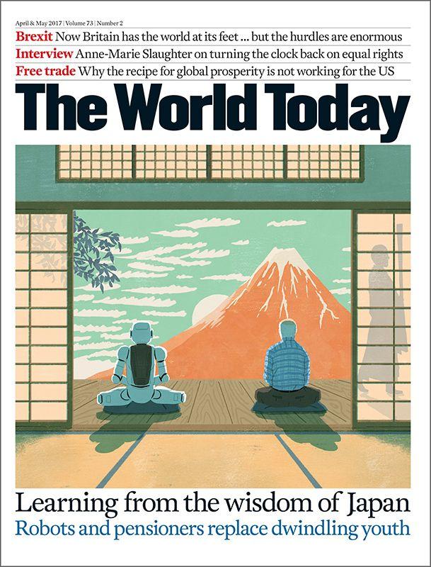 雑誌表紙『The World Today』(Chatham House/イギリス)  Design: Alexander Ecob  Cover Illustration for The World Today Magazine. (April & May 2017 issue) #illustration #illustrator #art #cover #イラスト #イラストレーション #イラストレーター #表紙 #robot #ロボット