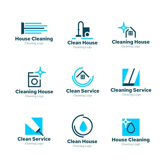 Download Logo Collection Design For Cleaning For Free In 2020 Cleaning Service Logo Clean Logo Design Cleaners Logo