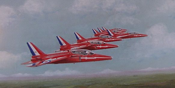 Red Arrows - Folland Gnat T1