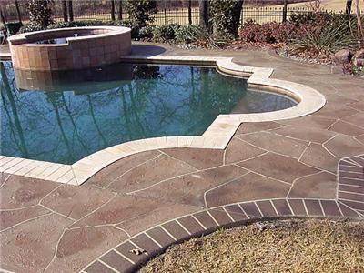 stone pool deck texas concrete pool decks solcrete denton tx