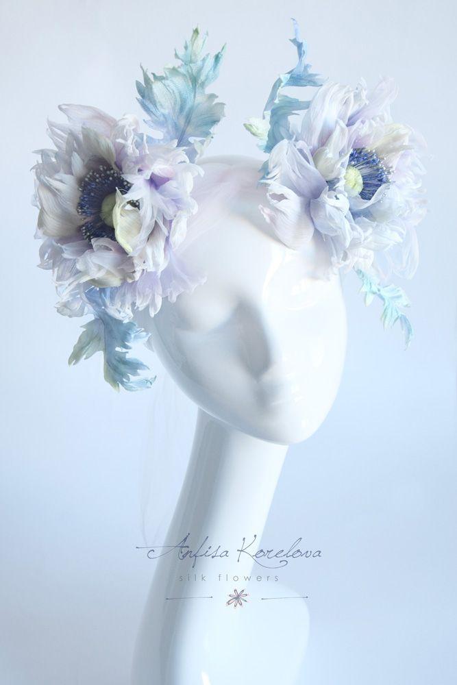 Богемный венок с шелковыми маками для невесты