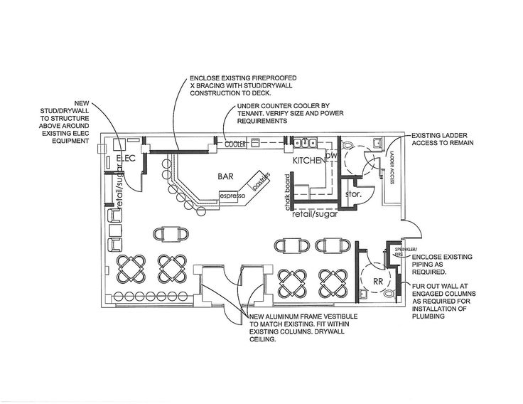 Coffee shop floor plan the mill pinterest coffee Bar floor plans designs for free