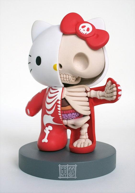 artist Jason FreenyStuff, Jason Freeny, Art, Skeletons, Toys, Kitty Anatomy, Hellokitty, Anatomy Sculpture, Hello Kitty