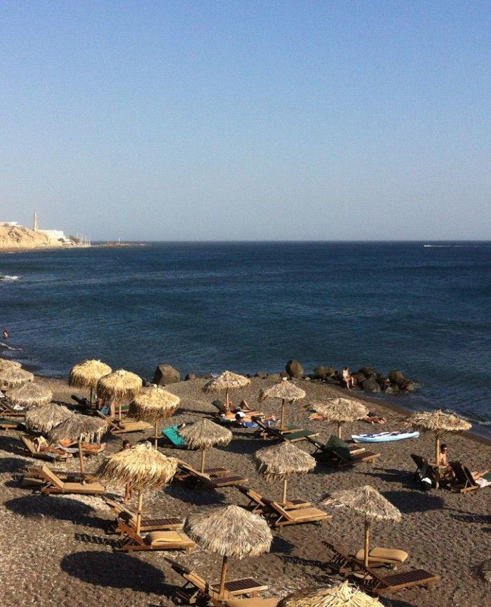 Eros beach is located north of Vlihada beach at the south part of Santorini. It can be accessed by car or walking by the sea of Vlyxada.  #ErosBeach #Vlihada #Santorini #NostosStudios