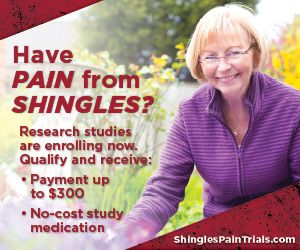 Post-shingles pain, also known as post-herpetic neuralgia (PHN), Research Study