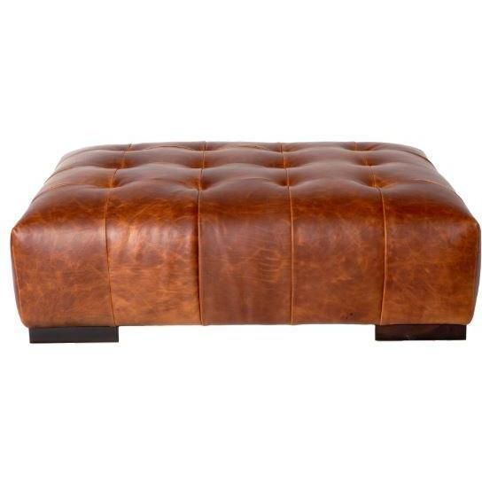 Cisco Brothers Arden Leather Ottoman Essentials Collection