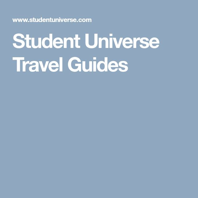 Student Universe Travel Guides