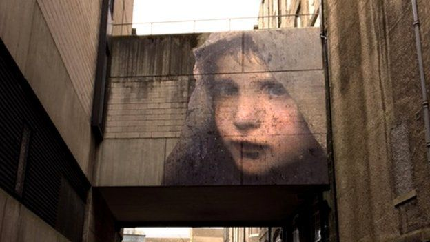 BBC - The Nuart event sees striking images appearing on buildings across Aberdeen.