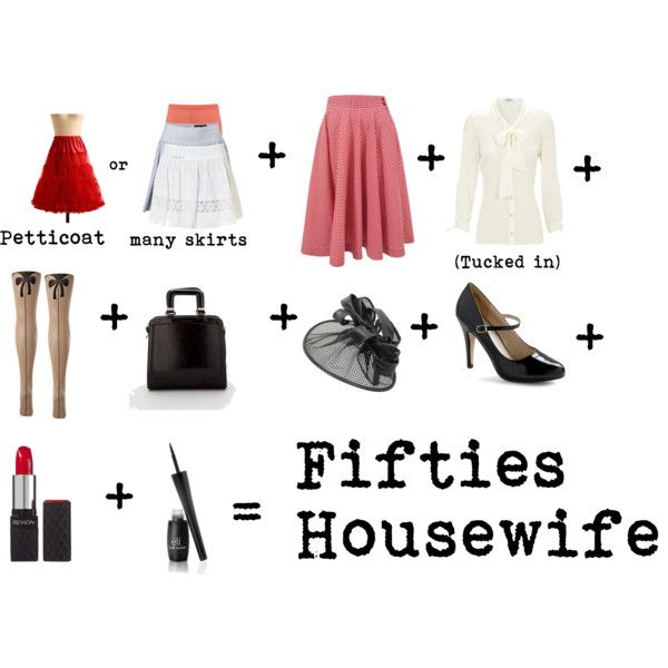 DIY Costume: 50s Housewife, created by nathalia-the-colourful on Polyvore
