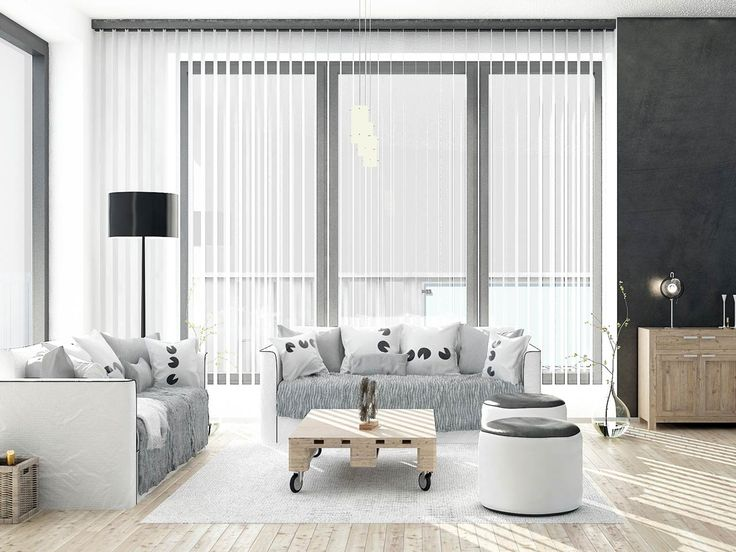 Vertical blinds in contemporary setting14 best Vertical Blinds images on Pinterest   Blinds  Window  . Decorative Vertical Blinds. Home Design Ideas