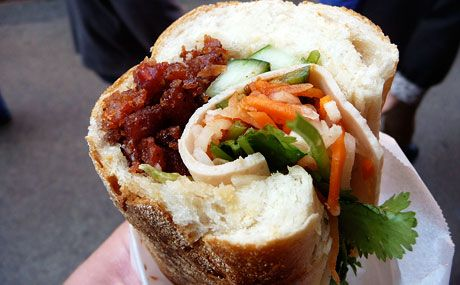 NYC stop? Bahn Mi at Saigon Bakery? 198 Grand Street (b/w Mott and Mulberry)
