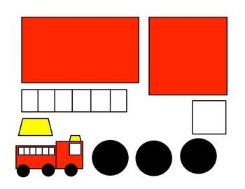 shape fire truck craft template - Google Search                                                                                                                                                                                 More
