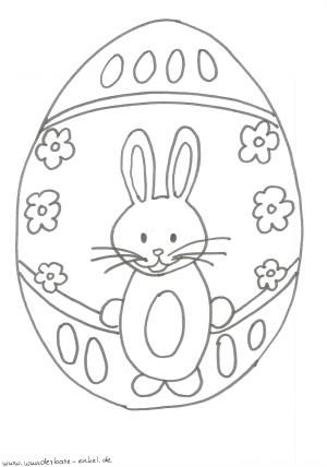 schablonen ausmalen hase im osterei ostern easter coloring pages und crafts for kids. Black Bedroom Furniture Sets. Home Design Ideas