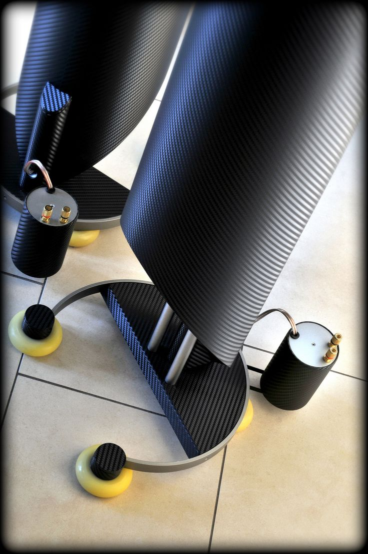 "Custom made omnidirectional high end loudspeaker ""PIPE"" - detail / Designed by A. Fiol - Germany"