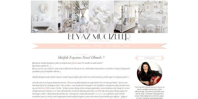 Benim Tutkum - Kozmetik ve Bakım Hakkında Herşey: Beyaz Mucizeler - Blog Şablon Tasarımı